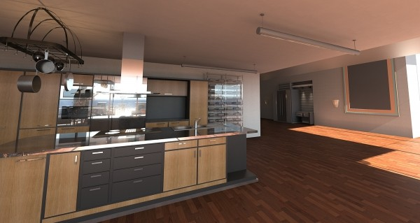 Duża kuchnia